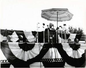 President Herbert Hoover Giving Speech